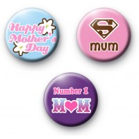 Cute Set of 3 Mothers Day Badges thumbnail