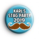 Moustache Stag Party Badge