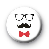 Bow Tie and Moustache Badge