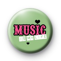 Green Music is my life badge