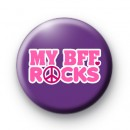 My BFF Rocks Button Badge