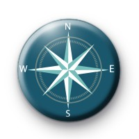 Nautical Compass Pin Badge