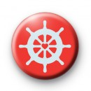Red Nautical Boat Pin Badge