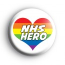 NHS Hero Rainbow Heart Badge
