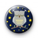 Sleepy Night Owl Pin Badge