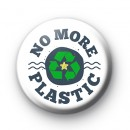 No More Plastic ECO Button Badge