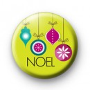 Noel Xmas Baubles badge