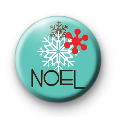 Noel Snowflake Button Badges