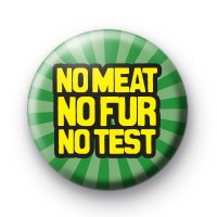 No Meat No Fur No Test Badge