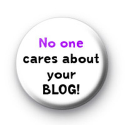 No one cares about your blog badges