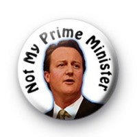 Not My Prime Minister Badge