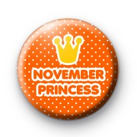 November Princess Birthday Badge