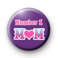 Number 1 Mum Mothers Day Badge