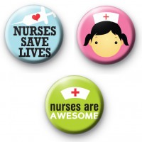 Set of 3 Nurse Badges