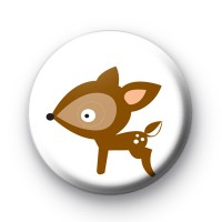 Sweet Little Deer Button Badge