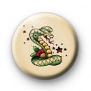 Old School Snake Tattoo Button Badges