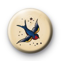 Old School Swallow Tattoo Button Badges