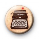 Old Typewriter Love Button Badges