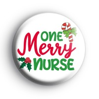 One Merry Nurse Badge