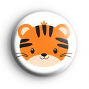 Black and Orange Tiger Badge