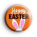 Orange Happy Easter Bunny Badge