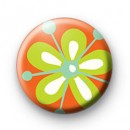 Orange Flower Badge