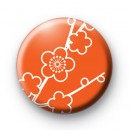 Orange F|ower Blossom Badge