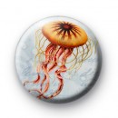 Orange Jelly Fish Button Badges