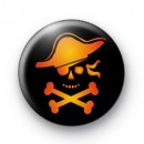 Orange Pirate Skull Badge