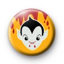 Dracula Vampire Orange Button Badges