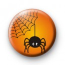 Orange Spooky Creepy Spider badge