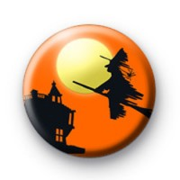 Orange Halloween Witch Badge