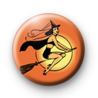 Orange Wicked Witch Badge