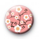 Pink Oriental Flower Blossom Badges