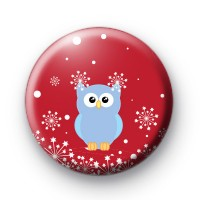 Festive Snowflake and Owl Badge