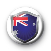 Australia Crest Flag Button Badge