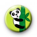 Panda Bamboo Button Badges
