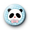 Pink Bow Tie Panda Badge