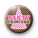 Pink Party Princess Birthday Badges