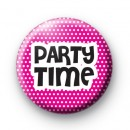 Party Time Pink Badge