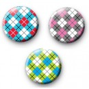 Set of 3 Argyle Pattern Badge Pack