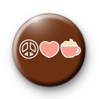 Peace Love Coffee Badges