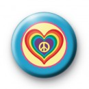 Peace Love Hearts and Rainbows Badge