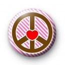 Pink Peace and Love Badges