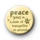 Peace Definition Badge