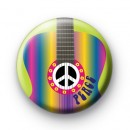 Bright Rainbow Guitar Buton Badges