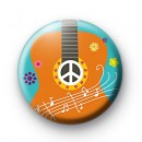 Cute Guitar Button Badge