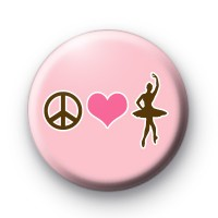 Peace Love Ballet Badges