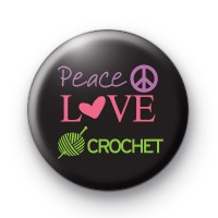 Peace Love Crochet Badge