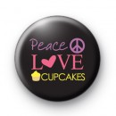 Peace Love Cupcakes Badges